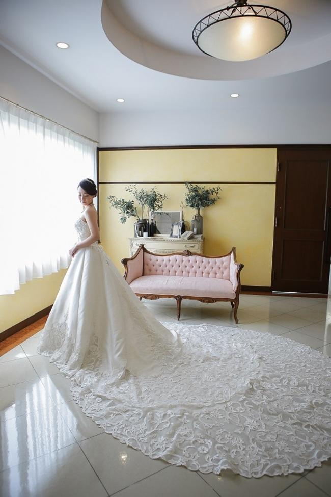 N【1294】シンプル×トレーン長め×ドレス