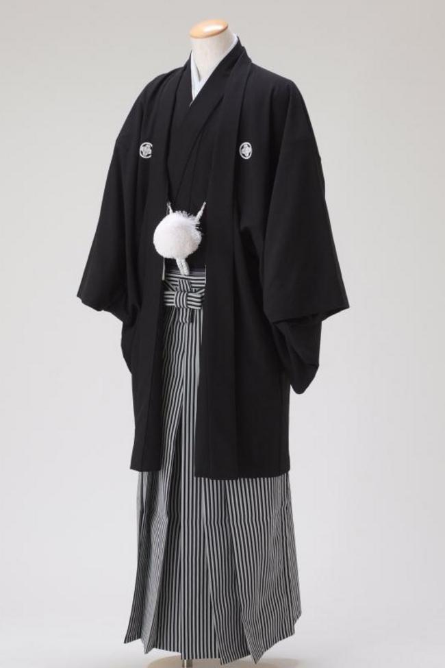 N・O【8001】袴-黒